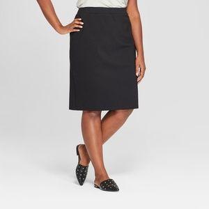 Ava & Viv Pull-On Black Pencil Skirt Sz 3X